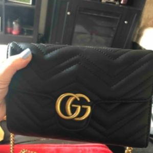 Gucci GG Marmont matelassé Shoulder Cross body Bag